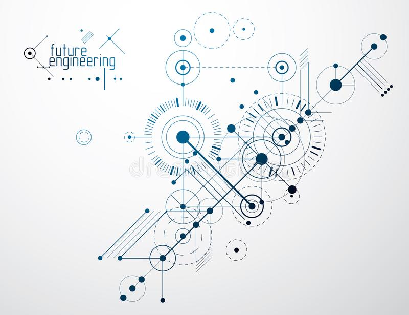 Plan technique, ébauche abstraite d'ingénierie pour l'usage dans le graphique illustration de vecteur