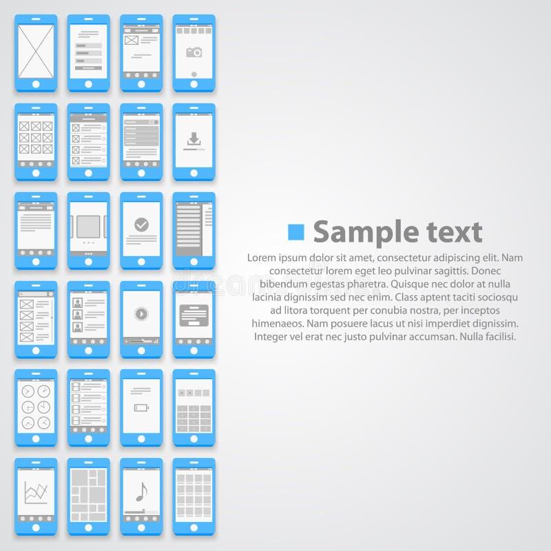 Plan telefonskärmbakgrund royaltyfri illustrationer
