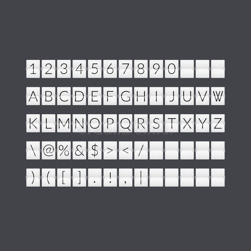 Plan tidmätare för grå färgpappersnedräkning stock illustrationer