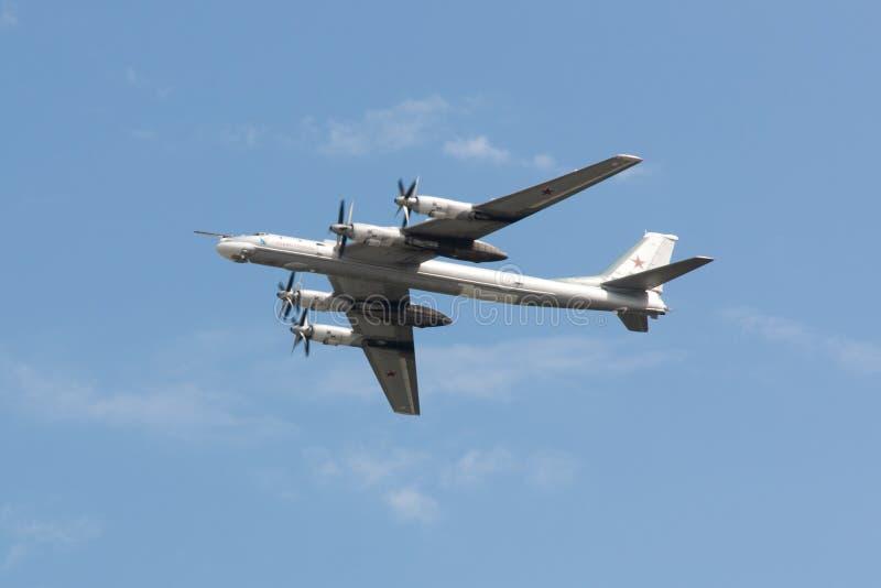 Plan Tu-95 royaltyfria foton