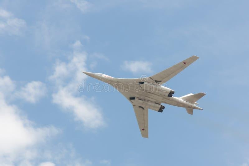 Plan Tu-95 royaltyfri fotografi