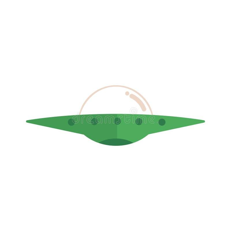 Plan ufo för vektor, ufo-främlingrymdskepp stock illustrationer