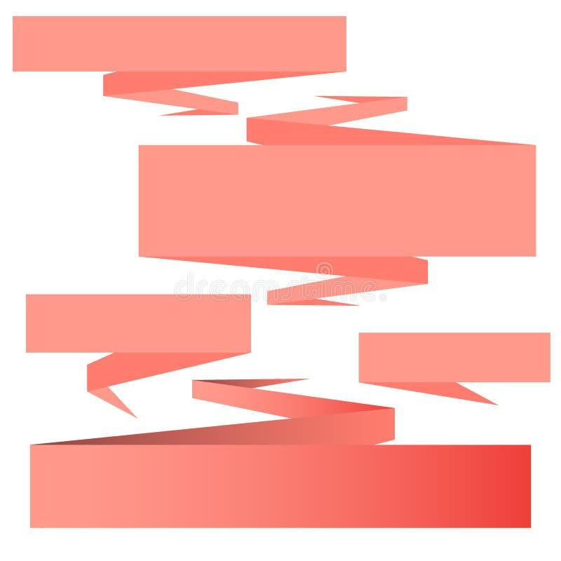 Plan uppsättning för beståndsdelar för design för mall för designband- och banervektor stock illustrationer