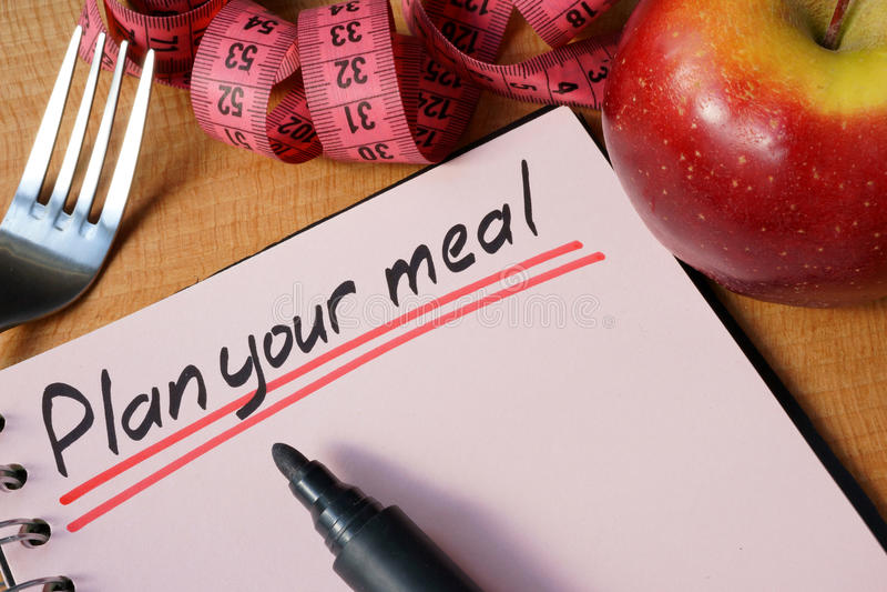 Plan uw maaltijd royalty-vrije stock afbeelding