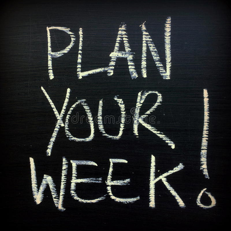 Plan Uw Week! stock fotografie