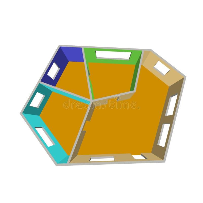 Plan vacío del sitio Aislado en el fondo blanco illustrat del vector 3d ilustración del vector
