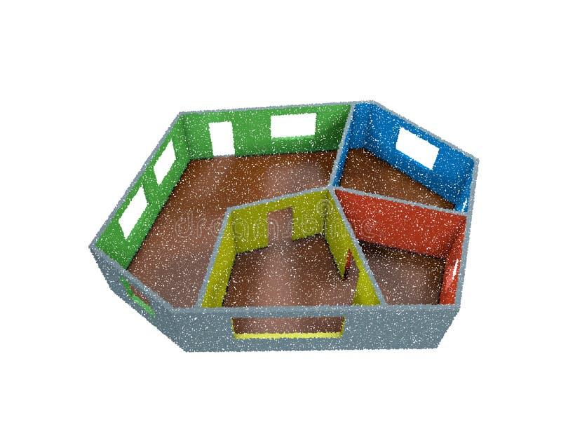 Plan vacío del sitio Aislado en el fondo blanco Illustrati del vector ilustración del vector