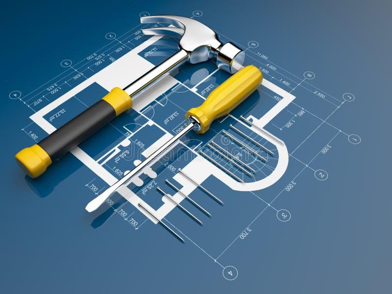 Plan van bouw stock illustratie