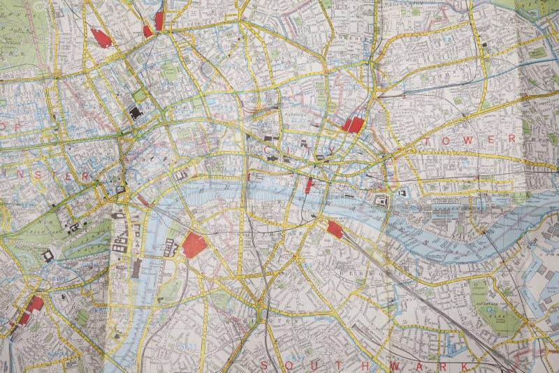 Plan van centraal Londen stock illustratie