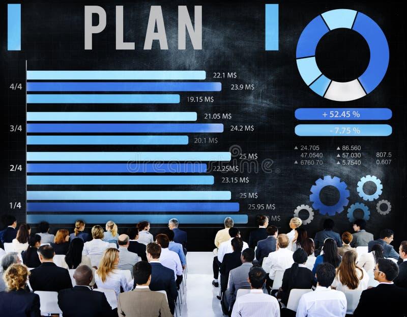 Plan van de Bedrijfs planningsanalyse Strategieconcept stock afbeelding