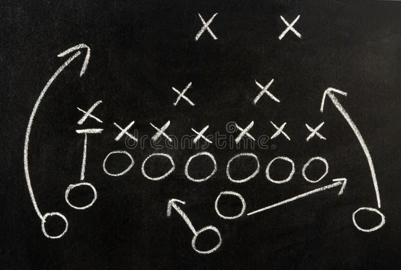 Plan van een voetbalspel stock foto