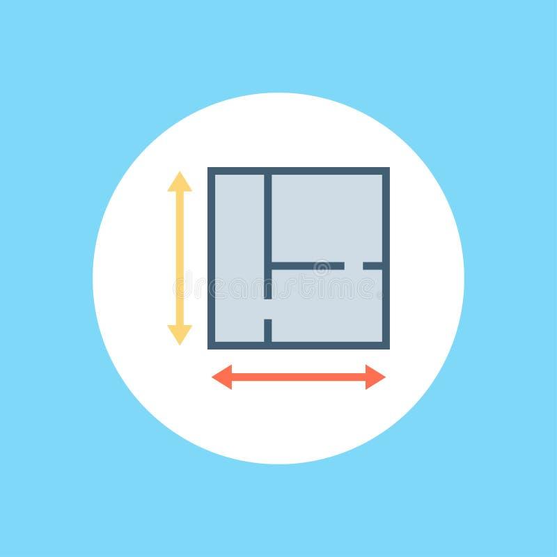 Plan vector icon sign symbol stock illustration
