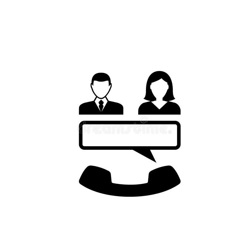 Plan vektorsymbol för konferenssamtal stock illustrationer