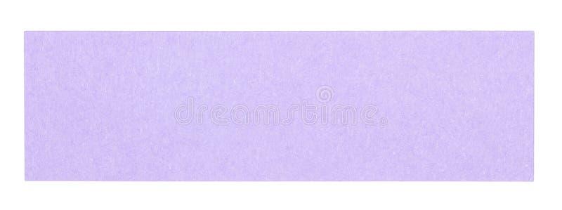 Plan violett rektangulär klibbig anmärkning royaltyfria foton