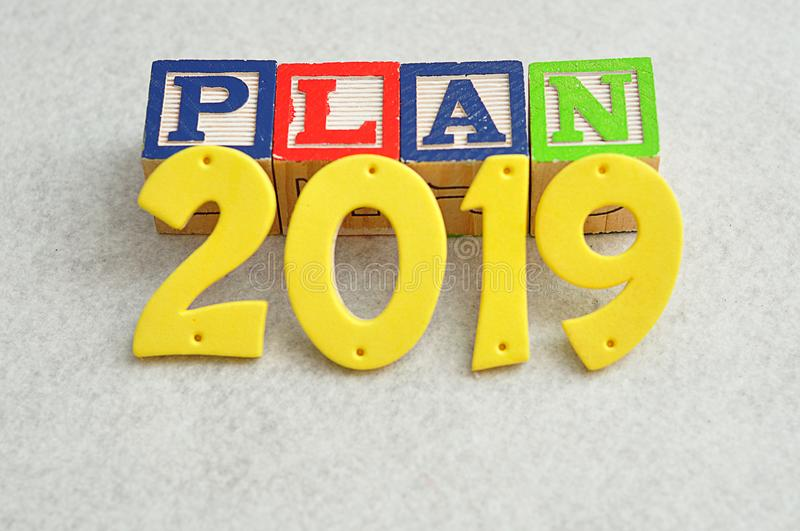 Plan 2019 royalty free stock photos