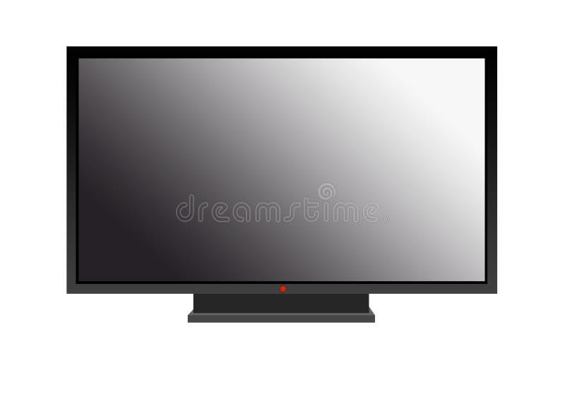 Plan widescreen plasmaLCD-TV HDTV arkivbilder