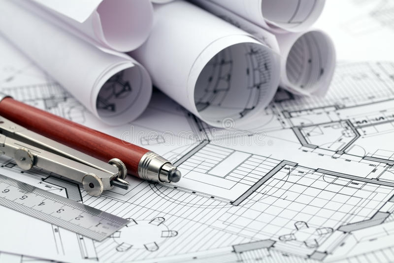 Plan y herramientas de la configuración fotografía de archivo