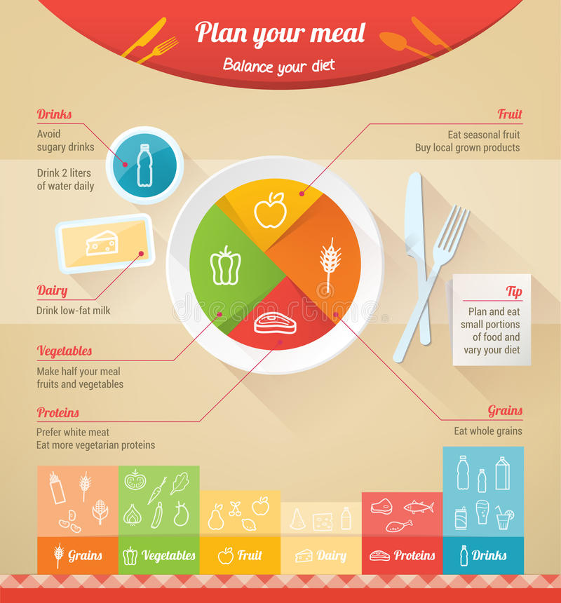 Plan your meal vector illustration