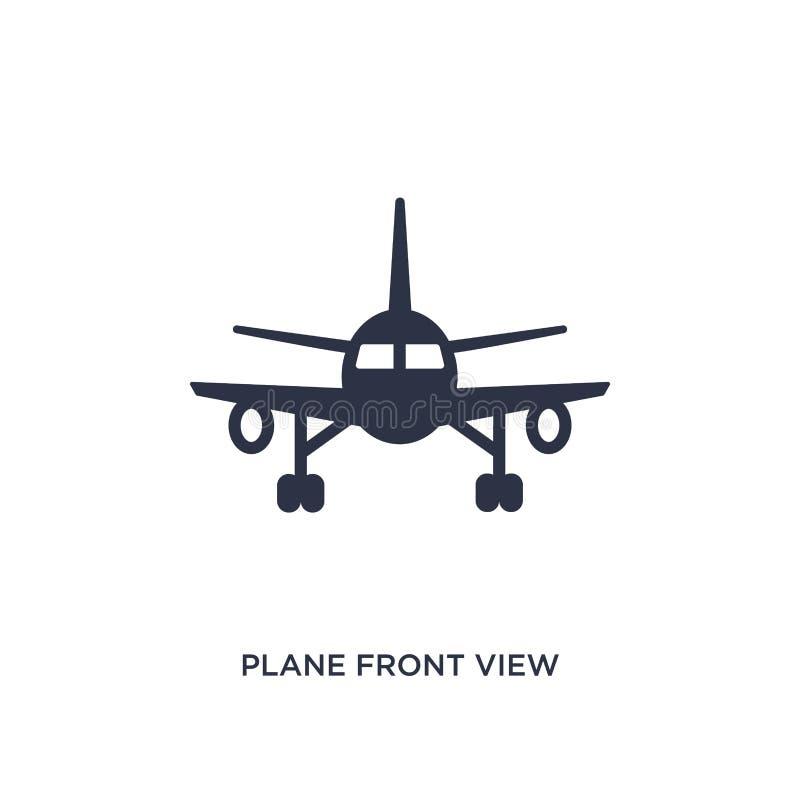 Plana Front View Icon på vit bakgrund Enkel beståndsdelillustration från begrepp för flygplatsterminal royaltyfri illustrationer