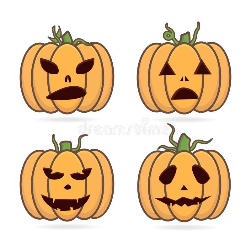 Plana halloween mystiska ugglor i häxa piratkopierar hatten royaltyfri illustrationer