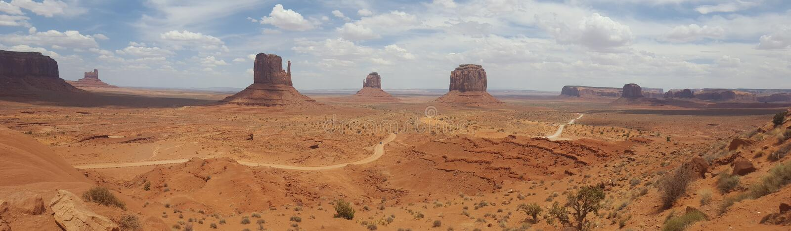 Plana Panorama Estados Unidos Monument Valley Arizona fotografia de stock