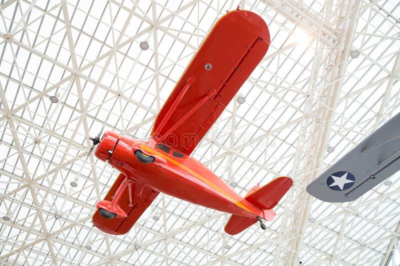 Plana skärmar på luftmuseet arkivfoto