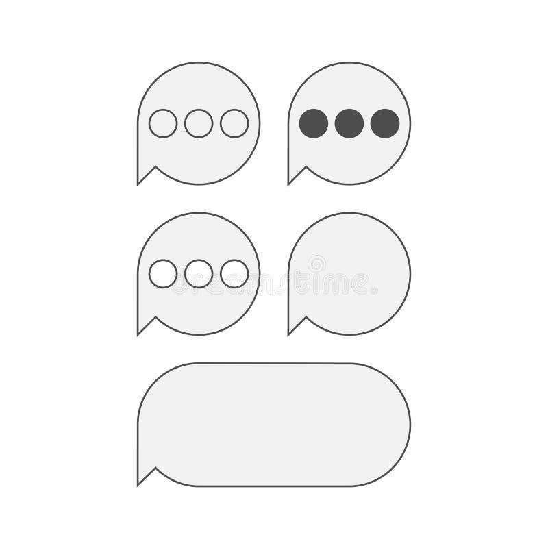 Plana symboler för mobil textMessaging royaltyfri illustrationer