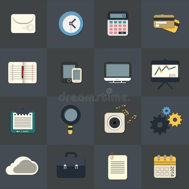 Plana symboler för rengöringsduk- och mobilapplikationer vektor illustrationer