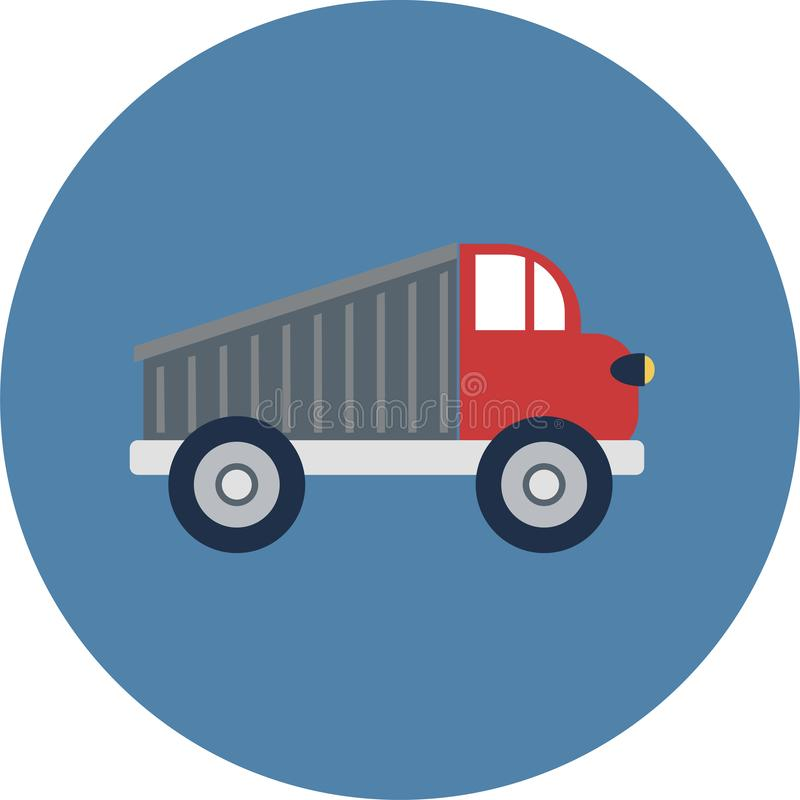 Plana symboler för transport Bilar och plan illustration för kollektivtrafikvektor stock illustrationer