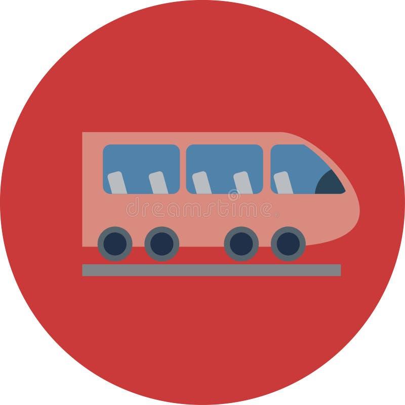 Plana symboler för transport Bilar och plan illustration för kollektivtrafikvektor vektor illustrationer