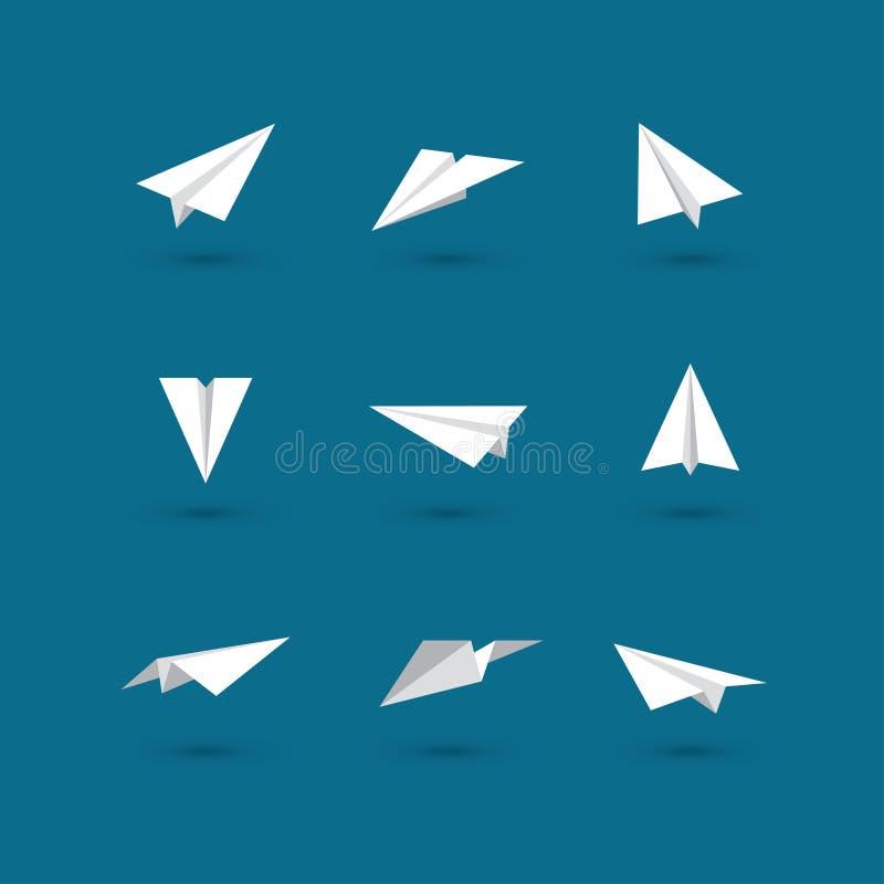 Plana symboler för vitbok royaltyfri illustrationer