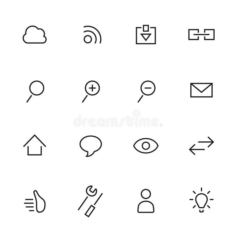 Download Plana Symboler. Sociala Medier Stock Illustrationer - Illustration av översikt, papper: 37347982