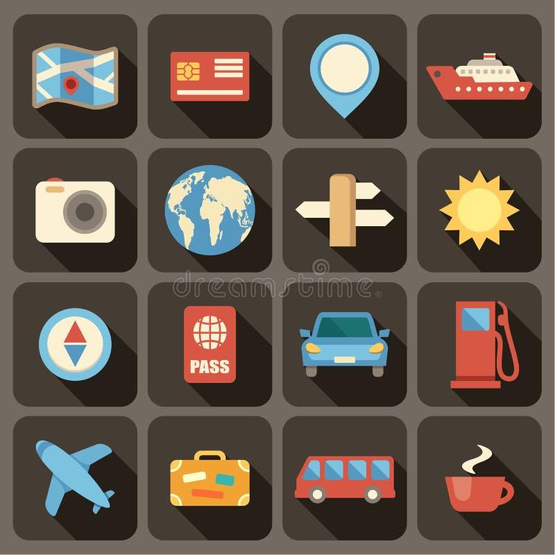 Plana symboler ställde in för rengöringsduk- och mobilapplikationer stock illustrationer
