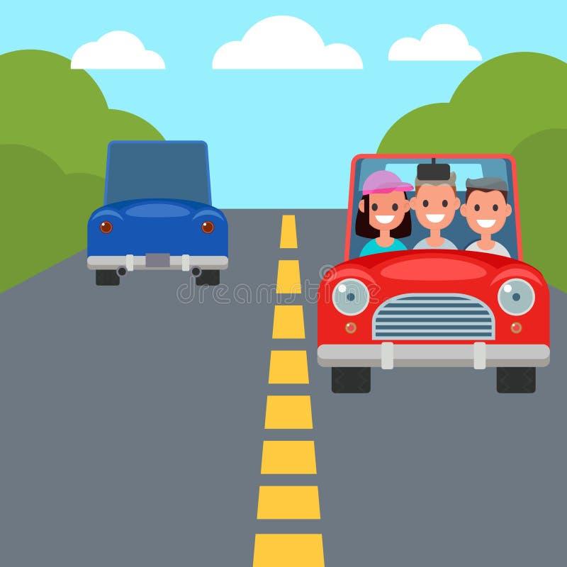 Plana tecken för designbilkörning Dela för bil vektor stock illustrationer