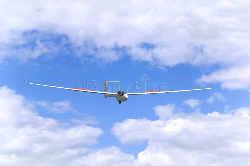 Planador no vôo foto de stock