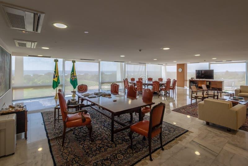 Planalto宫殿的-巴西利亚,联邦的Distrito,巴西总统Office 免版税库存照片