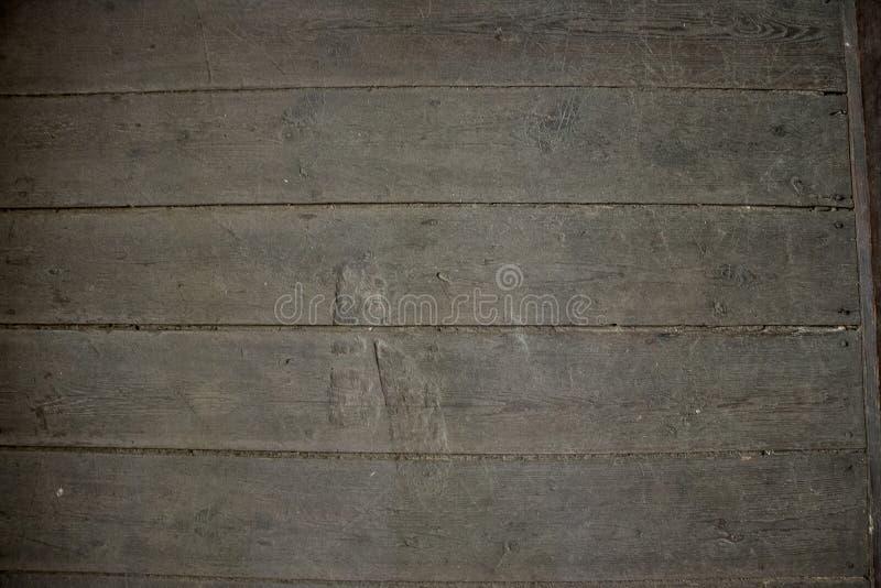 Plance di legno grige orizzontali Priorità bassa e struttura astratte fotografie stock libere da diritti