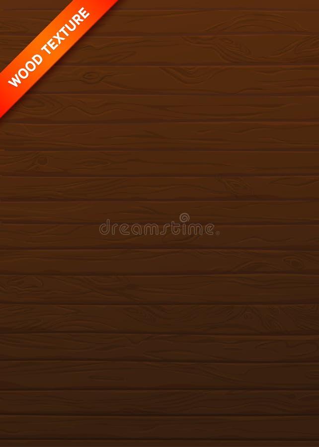 Plance naturali di struttura di legno di vettore Bordi con i nodi e le vene royalty illustrazione gratis