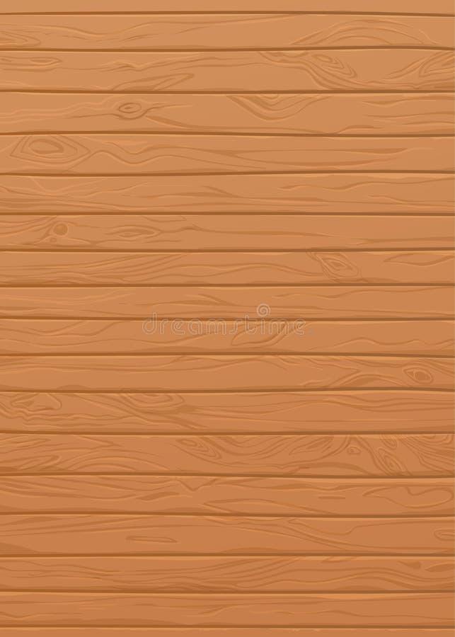 Plance naturali di struttura di legno di vettore Bordi con i nodi e le vene illustrazione vettoriale