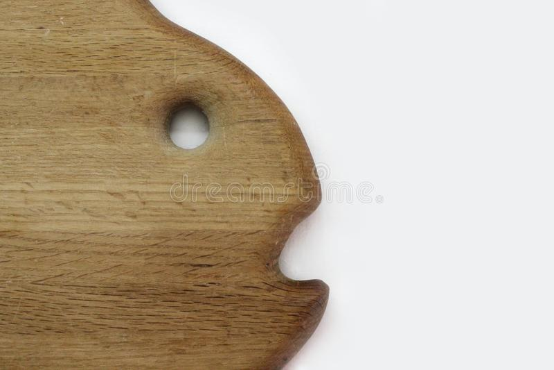 Planche à découper de chêne sous forme de poissons photo stock