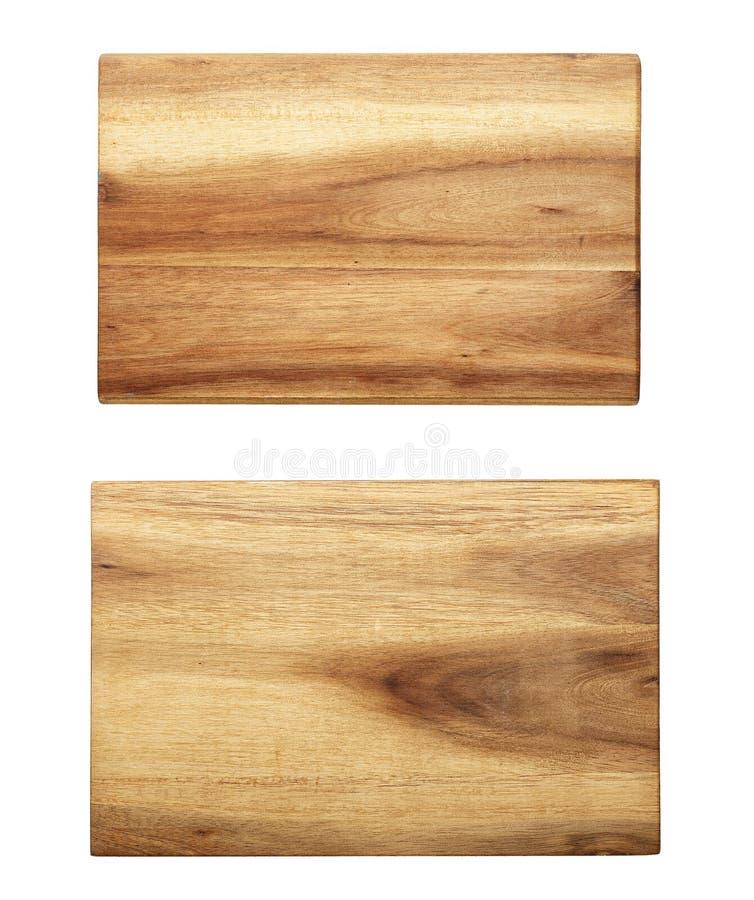 Planche à découper en bois rectangulaire image stock