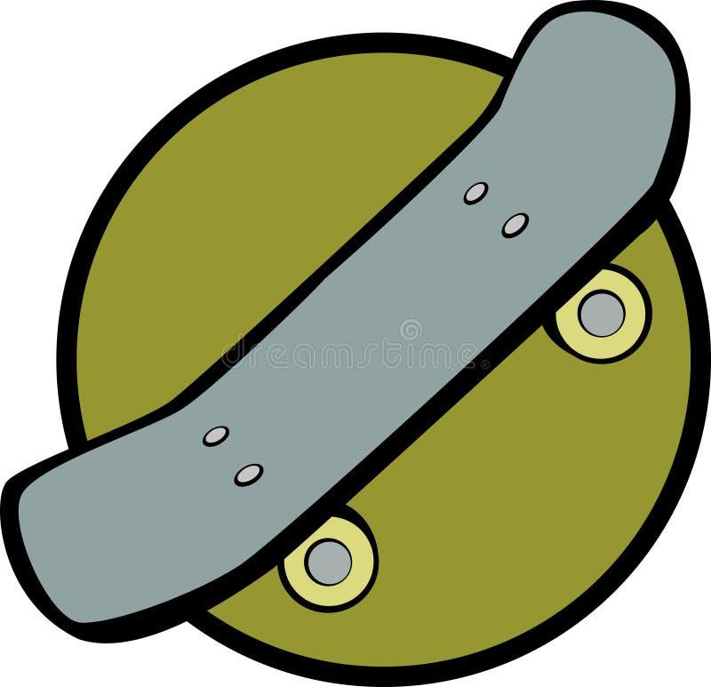 Planche à roulettes illustration de vecteur