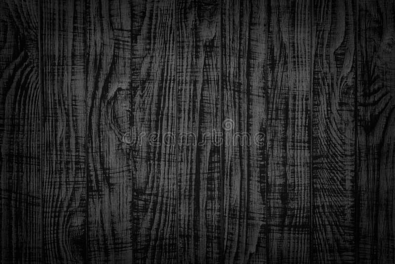 Planche de fond de vintage vieille de texture en bois de noir Surface en bois fonc?e image stock