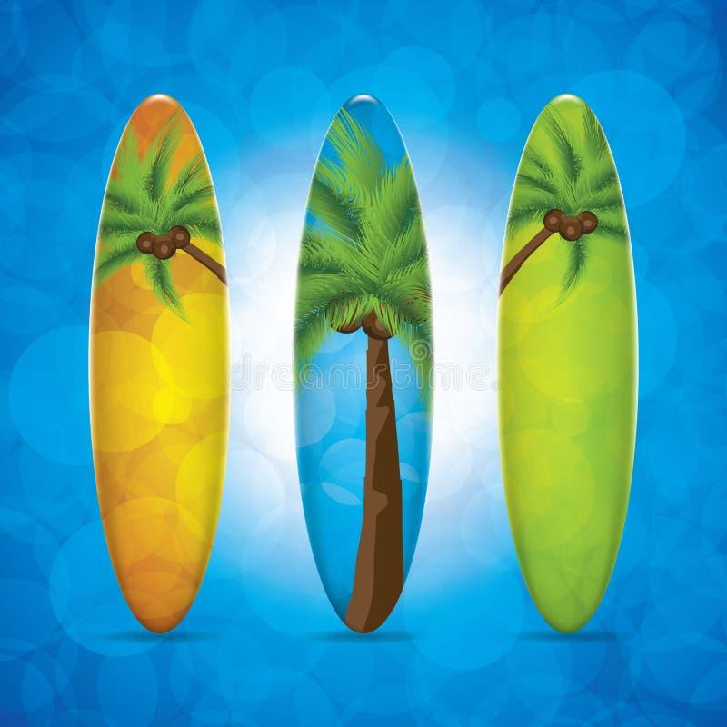 Planche de surf illustration stock