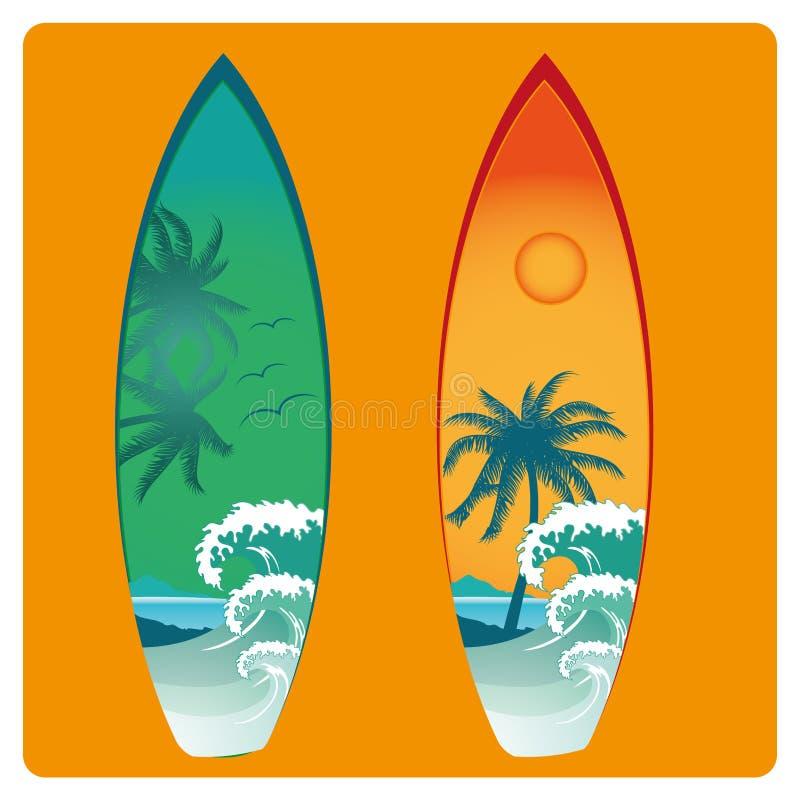 Planche de surf illustration libre de droits