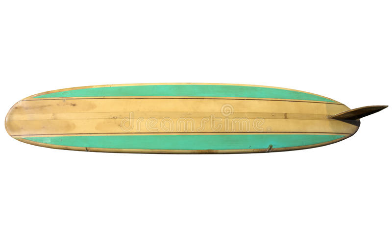 Planche de surf de vintage d'isolement sur le blanc photo stock