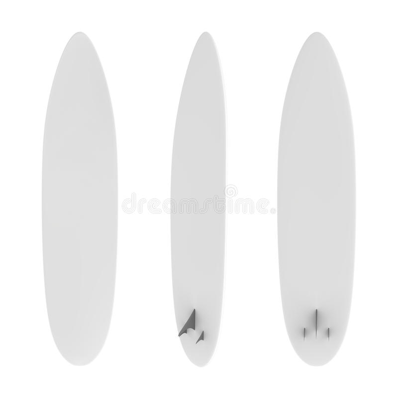 Planche de surf vide illustration libre de droits