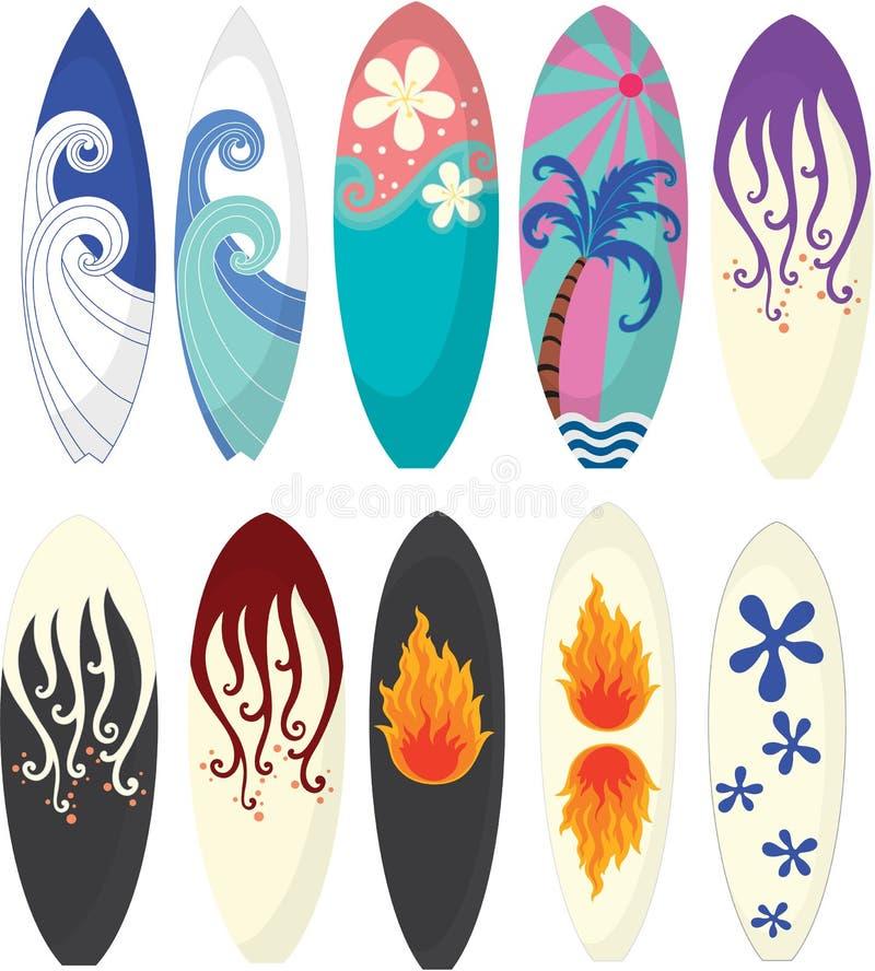 Planche de surfing illustration libre de droits