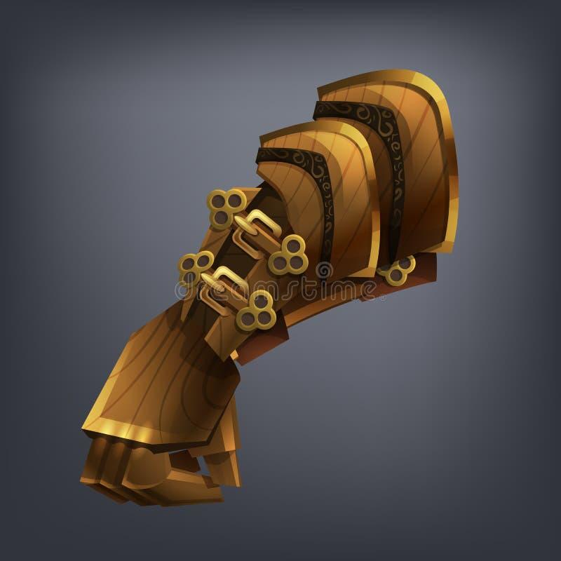 Planche el guante de la mano de la armadura de la fantasía para el juego o las tarjetas libre illustration