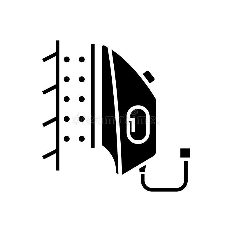 Planche el icono del vapor, ejemplo del vector, muestra negra en fondo aislado libre illustration